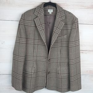 L.L.Bean Wool/Cashmere Single Breasted Blazer 12P